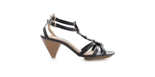 Dámské černé sandálky s motýlky Via Uno