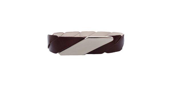 Dámský kožený pásek s kovovým zapínáním Via Uno