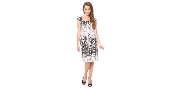 Dámské svštlé šaty s hnědým vzorem Moda Prym