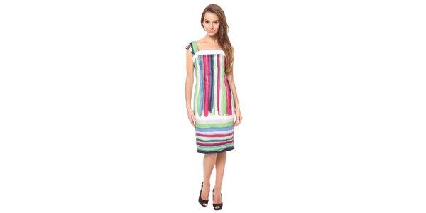 Dámské pestrobarevné pouzdrové šaty Moda Prym