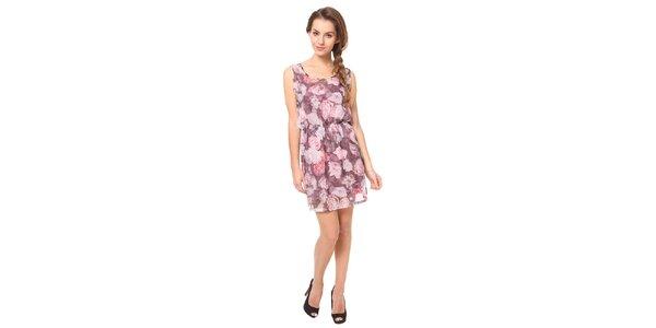 Dámské růžové vzorované šaty Moda Prym