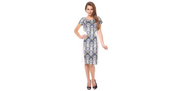Dámské modro-bílé šaty s krátkými rukávy Moda Prym