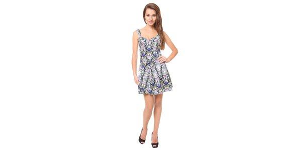 Dámské modré šaty se vzorem Moda Prym