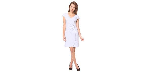 Dámské světle šedé šaty s ozdobným zipem Moda Prym
