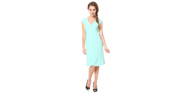 Dámské mentolové šaty s ozdobným zipem Moda Prym