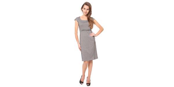 Dámské šedé šaty s černou linkou Moda Prym
