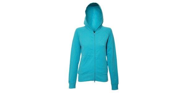 Dámská mikina YU Feelwear v azurové barvě