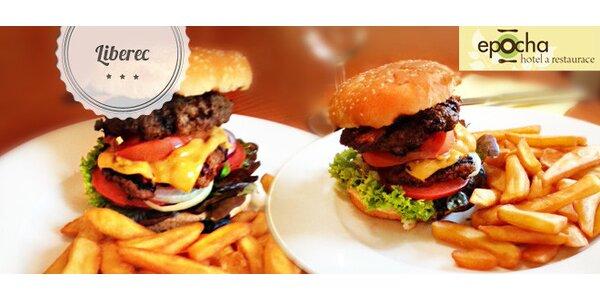 Sleva 40 % na hamburger s hranolky v restauraci Epocha