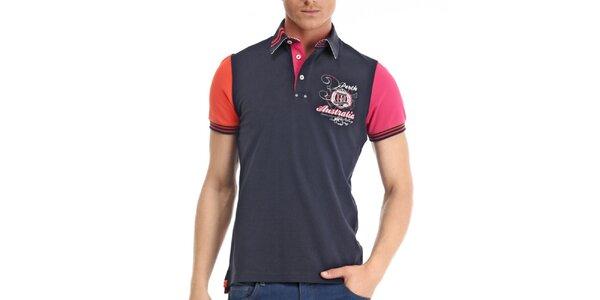 Pánské polo tričko s barevnými rukávy Galvanni