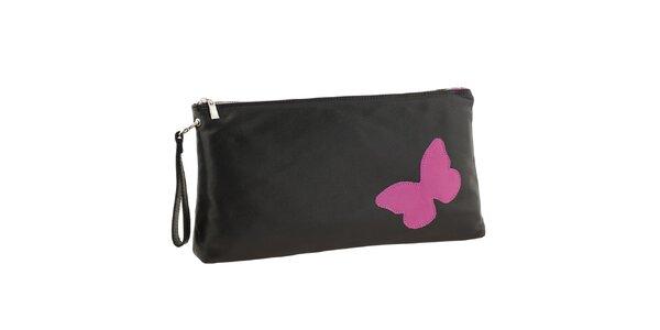 Dámská černá kožená kabelka do ruky Tina Panicucci
