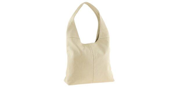 Dámská kožená béžová kabelka přes rameno Tina Panicucci