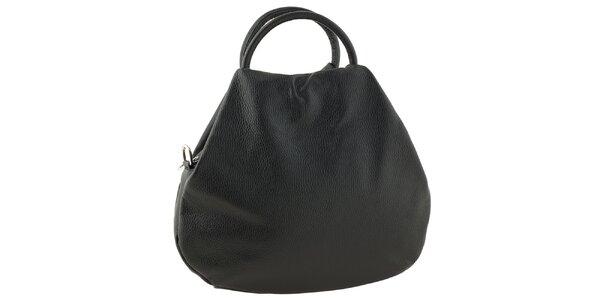 Dámská kožená černá bowlingová kabelka s dvěma uchy Tina Panicucci