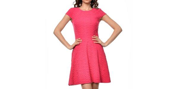 Dámské fuchsiové šaty s krátkým rukávem Dia Vynne