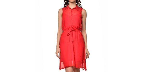 Dámské červené košilové šaty Dia Vynne