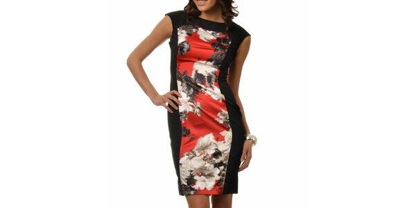 Dámské černé šaty s barevným potiskem Dia Vynne