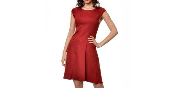 Dámské červené šaty s rukávky Dia Vynne