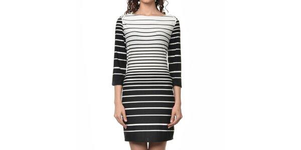 Dámské černo-bílé pruhované šaty Dia Vynne