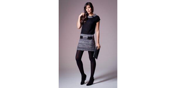 Dámské černo-šedé pletené šaty Ada Gatti