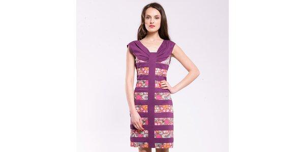 Dámské fialové šaty s potiskem Almatrichi