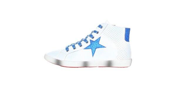 Dámské bílé tenisky s modrou hvězdou Ana Lublin