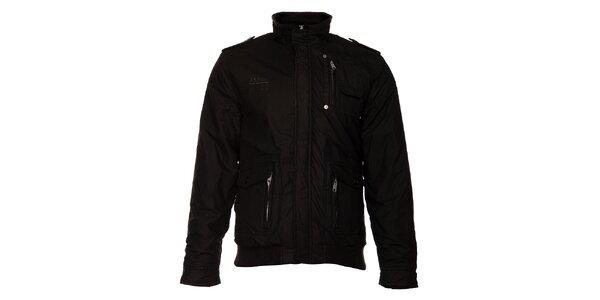 Pánská černá zimní bunda Exe Jeans
