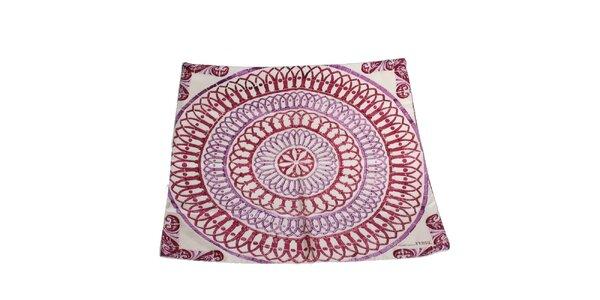 Dámský fialovo-růžový hedvábný šál Gianfranco Ferré s ornamenty