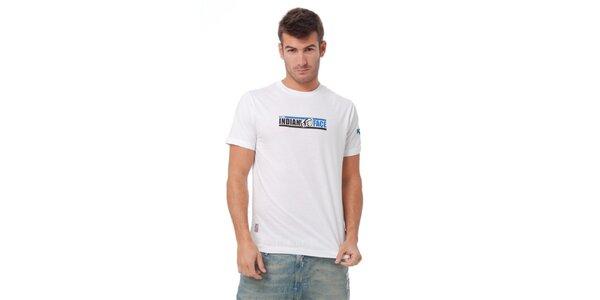 Pánské bílé tričko Indian Face s potiskem