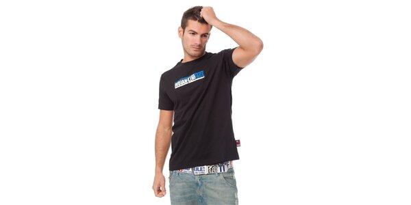 Pánské černé tričko Indian Face s potiskem