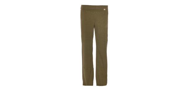 Dámské tepláky YU Feelwear v olivové barvě