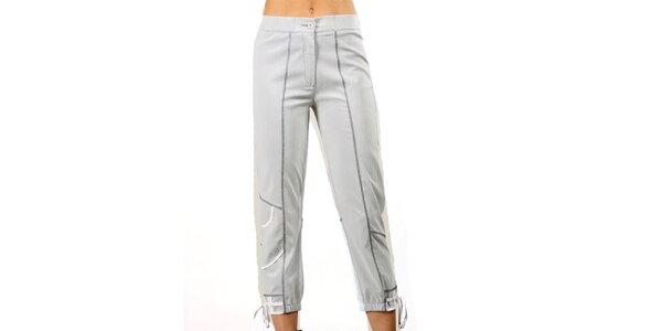 Dámské světle šedé kalhoty Squise