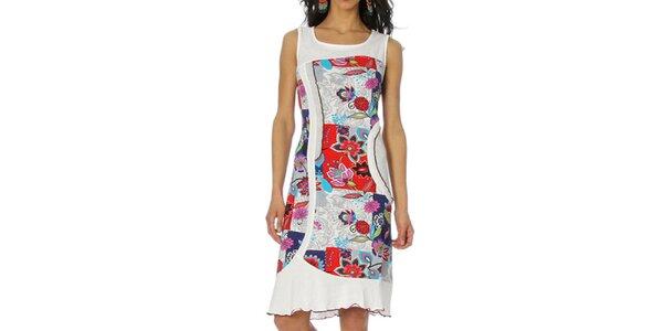 Dámské bílé šaty bez rukávů Squise