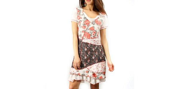Dámské šaty s květinovým potiskem Squise