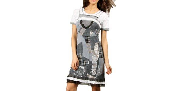 Dámské šedé šaty s volánky Squise