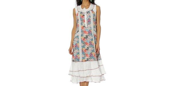 Dámské bílé volánkové šaty Squise