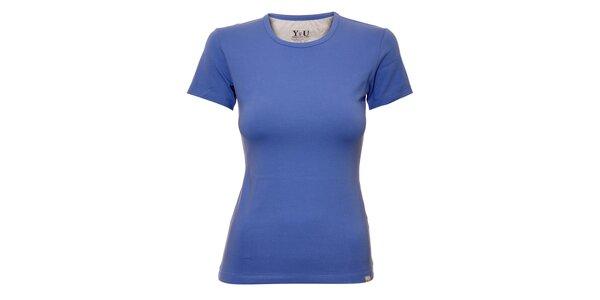 Dámské triko s kulatým výstřihem YU Feelwear v modré barvě