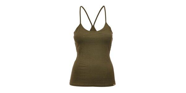 Dámský top YU Feelwear v olivové barvě