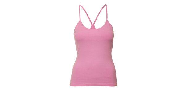 Dámský top YU Feelwear ve světle růžové barvě