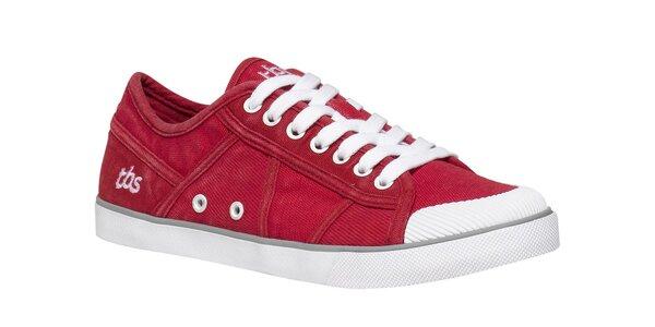Dámské červené tenisky s bílou podrážkou TBS 9f7365c49b