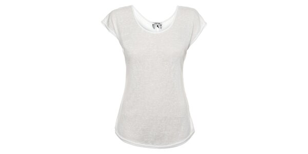 Dámské bílé tričko Holly Kate s mašličkami