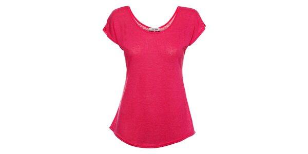 Dámské fuchsiové tričko Holly Kate s mašličkami