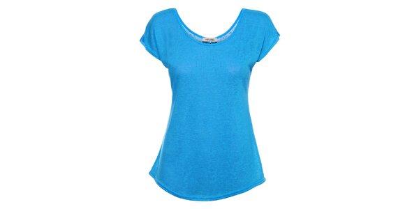 Dámské azurově modré tričko Holly Kate s mašličkami