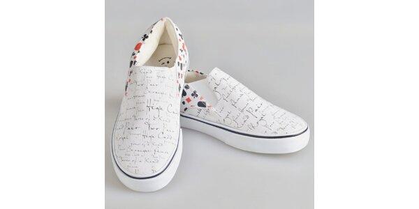 Dámské boty s karetním motivem The Bees