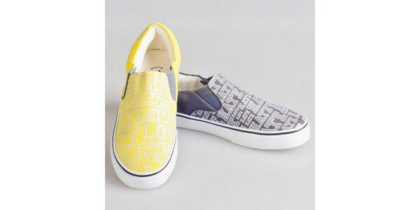 Dámské dvoubarevné boty s potiskem The Bees