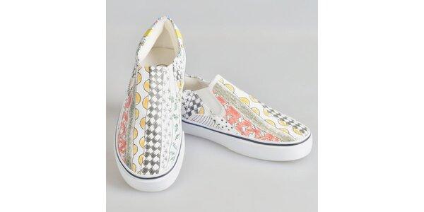 Dámské barevně vzorované boty The Bees
