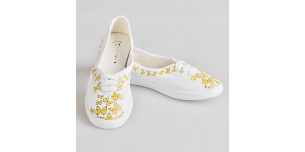Dámské tenisky se žlutými motýlky The Bees