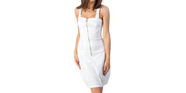 Dámské bílé šaty se šněrováním Avantgard