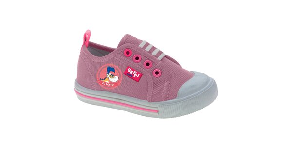 Dětské růžové plátěné tenisky Beppi