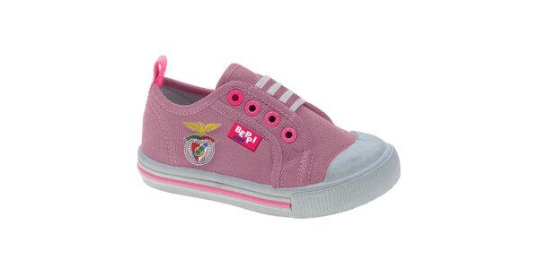Dětské růžové plátěné tenisky s obrázkem Beppi