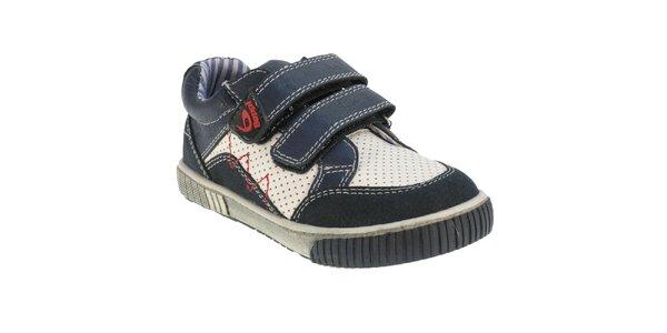 Dětské modro-bílé boty Beppi