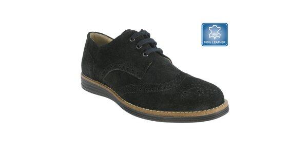 Dámské černé boty s perforací Beppi